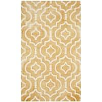 Safavieh Handmade Dip Dye Watercolor Vintage Gold/ Ivory Wool Rug - 3' x 5'