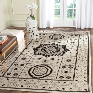 Safavieh Hand-Knotted Kenya Ivory/ Grey Wool Rug (6' x 9')