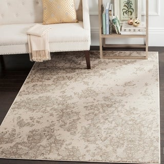 Safavieh Vintage Ivory/ Grey Distressed Rug (6'7 x 9'2)