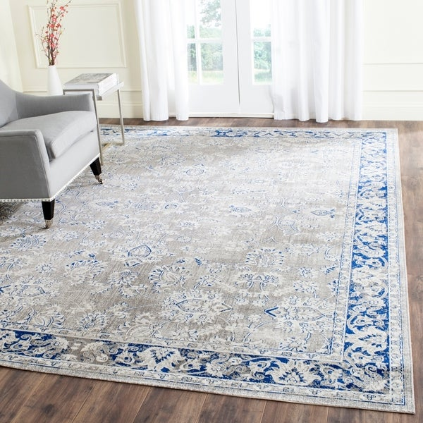 Safavieh Artisan Vintage Grey/ Blue Distressed Area Rug - 8' x 10'