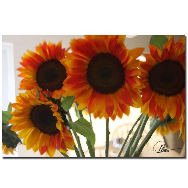 Martha Guerra 'Sunflowers VIII' 16x24 Canvas Wall Art