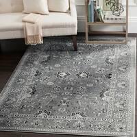Safavieh Vintage Oriental Dark Grey/ Light Grey Distressed Rug - 6'7 x 9'3