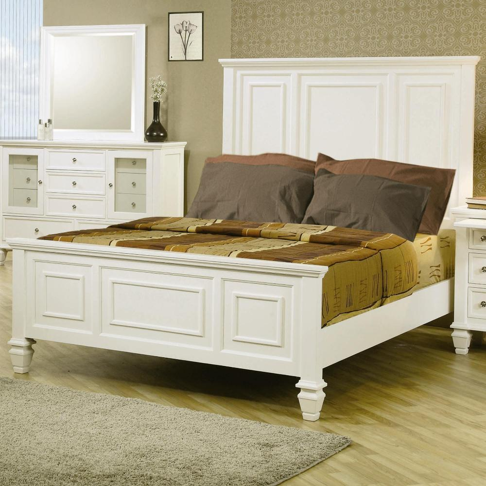 Nicholson Sincere 6 Piece White Bedroom Set (3 Options Available)