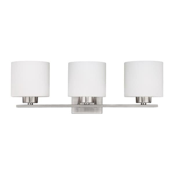 Capital Lighting Steele Collection 3 Light Brushed Nickel