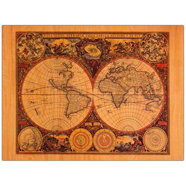 Shop Vintage Art World Map 18x24 Canvas Wall Art On Sale Free
