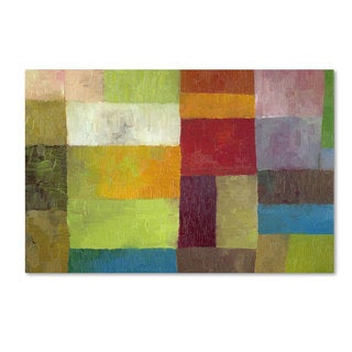 Michelle Calkins 'Abstract Color Panels IV' 22x32 Canvas Wall Art