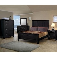 Nicholson Sincere 5-piece Black Bedroom Set - Free Shipping Today ...