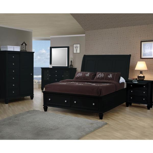 nicholson 6 piece black bedroom set free shipping today overstock