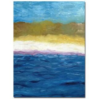 Michelle Calkins 'Abstract Dunes' 35x47 Canvas Wall Art