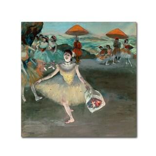 Edgar Degas 'Dancer with Bouquet 1877' 35x35 Canvas Wall Art