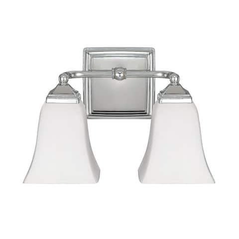Traditional 2-light Polished Nickel Bath/Vanity Light - Polished Nickel