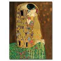Gustav Klimt 'The Kiss' 18x24 Canvas Wall Art