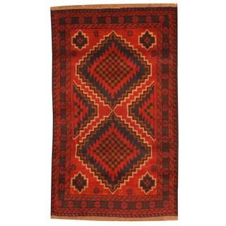 Herat Oriental Afghan Hand-knotted Tribal Balouchi Wool Rug (2'9 x 4'7)