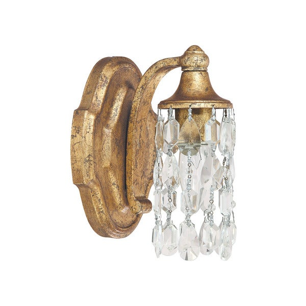 Capital Lighting Blakely Collection 1 Light Antique Gold Wall Sconce