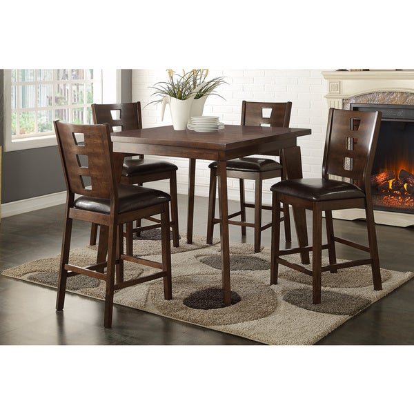 shop chaz winslow 5 piece counter high dining set free shipping today 10619707. Black Bedroom Furniture Sets. Home Design Ideas