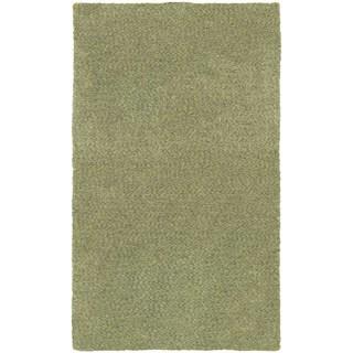 Cozy Indulgence Heathered Green Shag Rug (3' x 5')