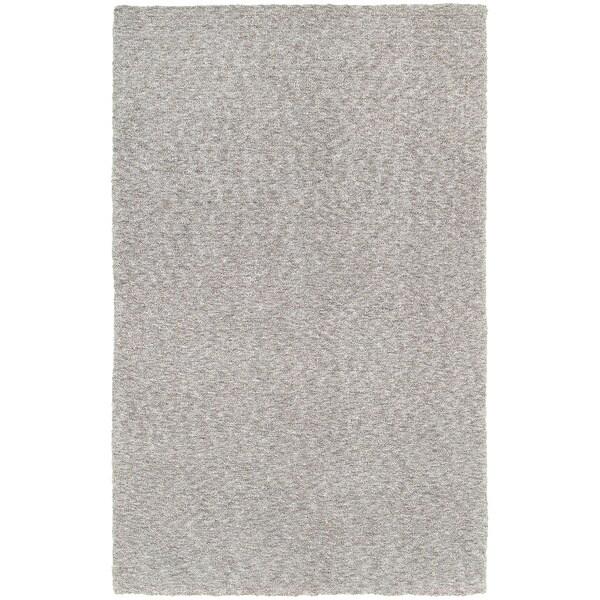 Carson Carrington Farum Heathered Grey Shag Rug - 3' x 5'