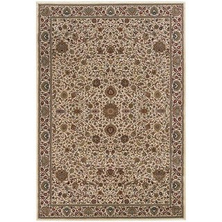 Updated Old World Persian Flair Ivory/ Green Area Rug (4' x 5'9) - 4' x 6'