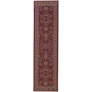 Updated Old World Persian Flair Red/ Ivory Rug (2'7 x 9'4)