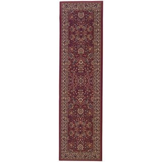 Gracewood Hollow Flanagan Persian Flair Red/ Ivory Runner Rug - 2'7 x 9'4