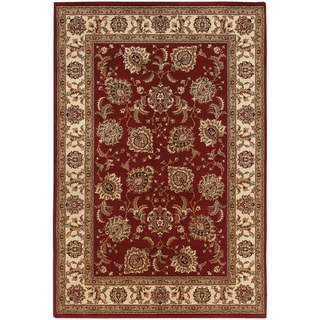 "Updated Old World Persian Flair Red/ Ivory Rug (4'X 5'9"") - 4' x 6'"