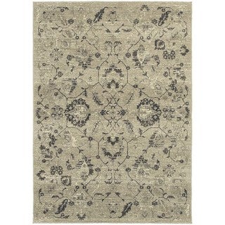 "Copper Grove Nueltin Floral Traditional Beige/ Grey Rug - 3'10"" x 5'5"""
