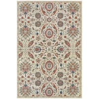 Updated Traditional Floral Beige/ Multi Rug - 3'10 x 5'5