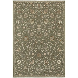 "Updated Traditional Floral Grey/ Multi Rug (3'10"" x 5'5"")"