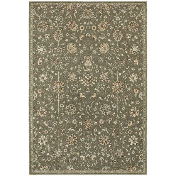 """Updated Traditional Floral Grey/ Multi Rug (3'10"""" x 5'5"""")"""