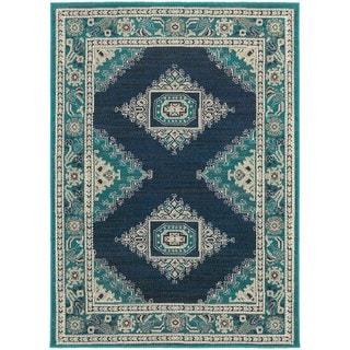 Global Influence Persian Blue/ Ivory Rug (3'10 x 5'5) - 3'10 x 5'5 - Thumbnail 0