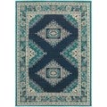 Global Influence Persian Blue/ Ivory Rug (3'10 x 5'5) - 3'10 x 5'5