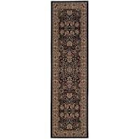 "Gracewood Hollow Alexie Persian Flair Black/ Ivory Runner Rug - 2'3"" x 7'9"" Runner"