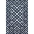 """StyleHaven Lattice Navy/Ivory Indoor-Outdoor Area Rug (3'7x5'6) - 3'7"""" x 5'6"""""""