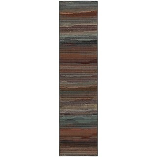 "Multicolored Stripe Area Rug - 1'10"" x 7'6"""