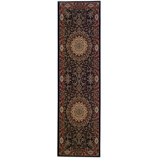 Updated Old World Persian Flair Blue/ Red Rug (2'3x7'9)