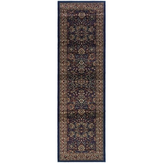 "Updated Old World Persian Flair Blue/ Red Rug (2'3"" X 7'9"")"