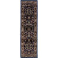 """Updated Old World Persian Flair Blue/ Red Rug - 2'3"""" X 7'9"""""""