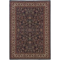 Updated Old World Persian Flair Blue/ Red Rug - 4' x 5'9