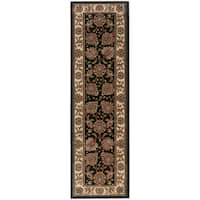 "Updated Old World Persian Flair Brown/ Ivory Rug (2'3 x 7'9) - 2'3"" x 7'9"""