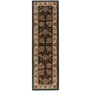 Updated Old World Persian Flair Brown/ Ivory Rug (2'7x9'4)