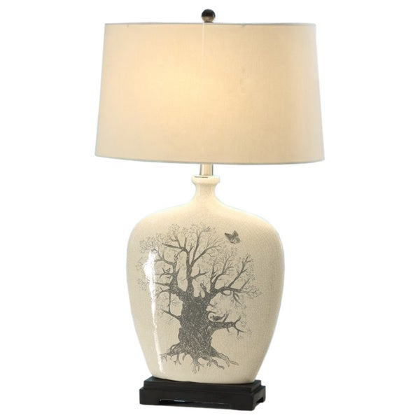 oak tree table lamps set of 2 free shipping today. Black Bedroom Furniture Sets. Home Design Ideas