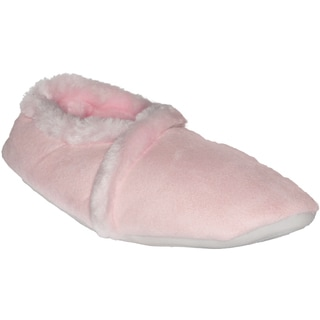Women's Memory Foam/ Faux Fur Pink Slippers