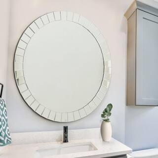 Mirrors for less overstock abbyson santorini round wall mirror teraionfo