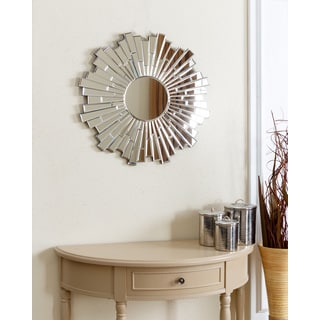 Abbyson Empire Burst Small Round Wall Mirror