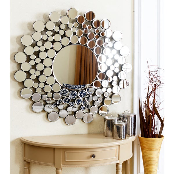 Abbyson Living Buchon Round Bubble Wall Mirror (As Is Item) - Free ...