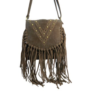 Poppy Fringe Studded Crossbody