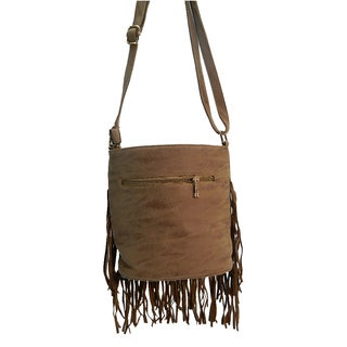 Ruby Faux Leather Fringe Crossbody