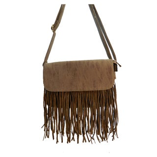 Bella Fringe Accent Crossbody Purse