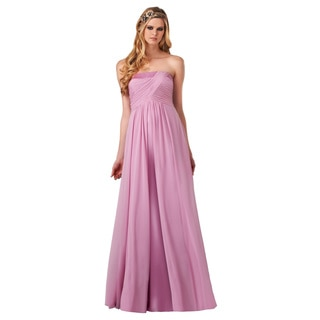 Bari Jay Fashions Women's Pink Strapless Gown