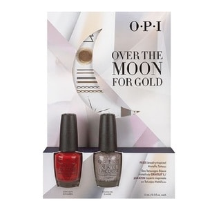 OPI 2-pack Over the Moon for Gold with Jewelry-Inspired Temp Tattoos Duo #1